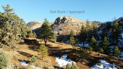 Rock Climbing Photo: The View of Owl Rock from Approx. parking area (ba...