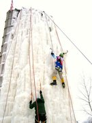 Rock Climbing Photo: great ice: not too brittle and not soft either.