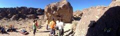 Rock Climbing Photo: Finally sent Hulk (V6)! Happy Boulders, Bishop, CA