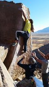 Rock Climbing Photo: Atari (V6) Happy Boulders, Bishop, CA