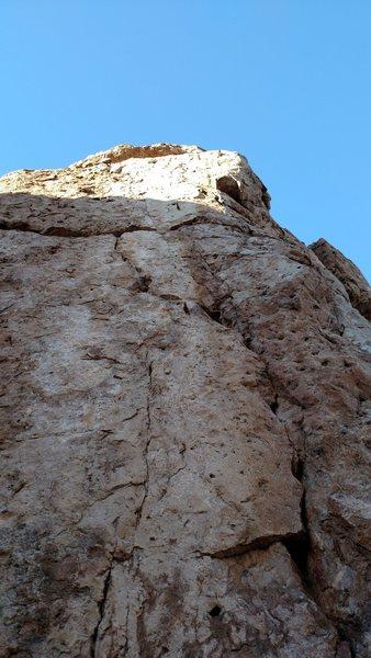 Rock Climbing Photo: Short sport route.