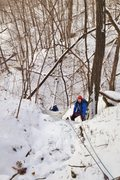 Rock Climbing Photo: Drake and Tim seconding the Relien Ravine in winte...