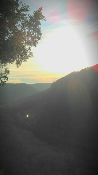 Rock Climbing Photo: Amazing southern sunset from the top of the route....