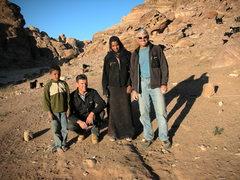 Rock Climbing Photo: Bedouin children herding their goats near the star...