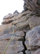 Rock Climbing Photo: Looking up from the YJB ledge