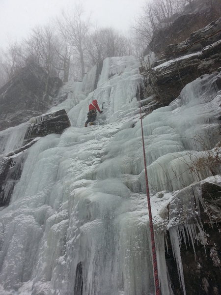 Rock Climbing Photo: Thomas stylin' stout conditions on Climax!