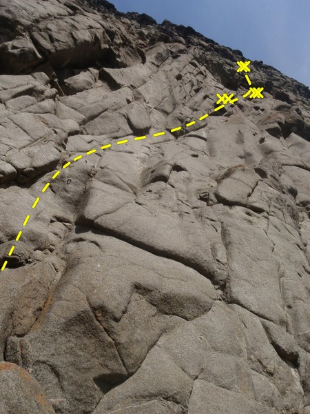 Rock Climbing Photo: Catch a Fire is the classic three pitch climb on t...