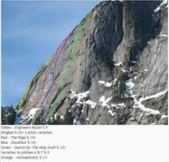 Rock Climbing Photo: Illusion Wall Overlay by the late great Chris Grey...