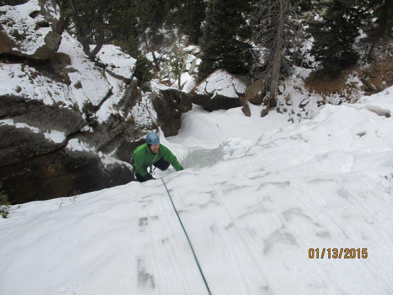 Rock Climbing Photo: Top Rope Tough Guys. Tadd- Elk Falls 1/13/2015.