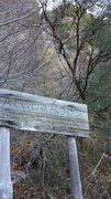 Rock Climbing Photo: Acqua Rocca sign along the trail.  Apparently, thi...