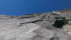 Rock Climbing Photo: Top of Pitch 3.  You can see the signature flake a...