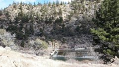 Rock Climbing Photo:  View of bridge from the trail, January 2015