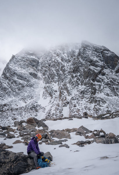"Rock Climbing Photo: The ""Northwest Buttress"" on the right, w..."