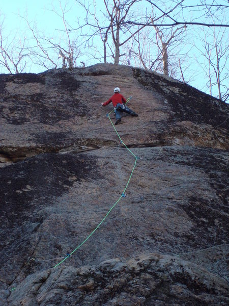 Sussing the upper crux.