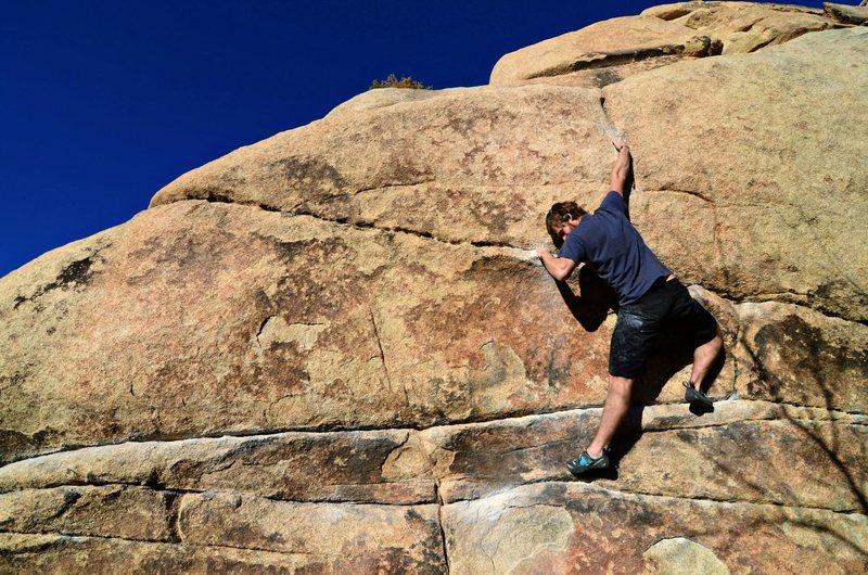 Rock Climbing Photo: Seth working on High Noon