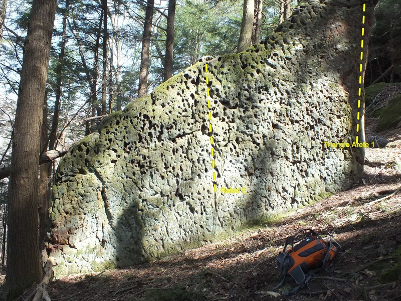 Rock Climbing Photo: Triangle Rock