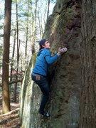 Rock Climbing Photo: Scott on Triangle Arete