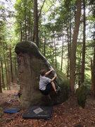 Rock Climbing Photo: Nate on Triangle Arete 2