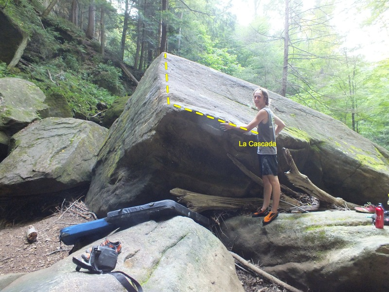 Scott at the Cascada boulder