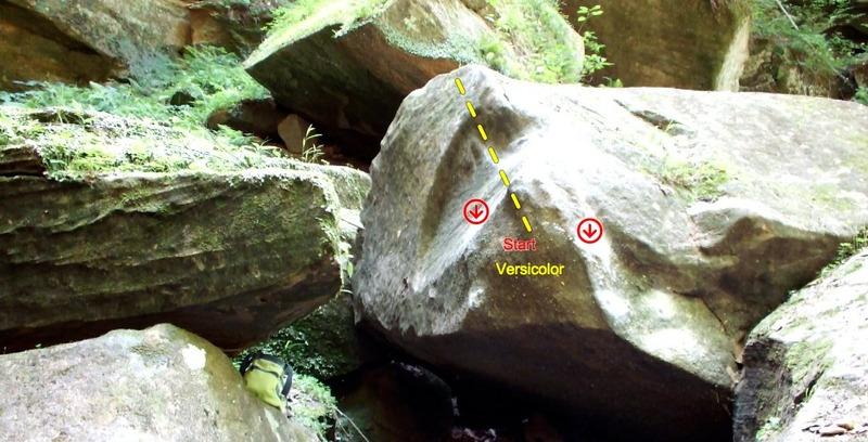 Rock Climbing Photo: Versicolor