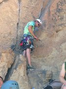 Rock Climbing Photo: Racked up 3rd trad lead Cinnamon Slab