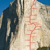 Topo of Dawn Wall on El Capitan