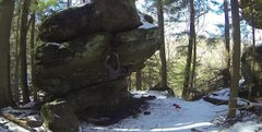 Rock Climbing Photo: James on Evolution Center
