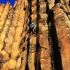 """A fine mid January sun soaked day on the echo basin classic """"mix it up""""... Love the solo TR accessibility of the sunshine wall routes, the sunny position, dry comfortable stone, and nice quiet setting is a winter treat."""