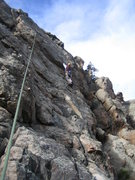 Rock Climbing Photo: Starting the slightly easier and more direct TR va...