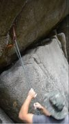 Rock Climbing Photo: cam pointed sharply outwards due to drag as climbe...