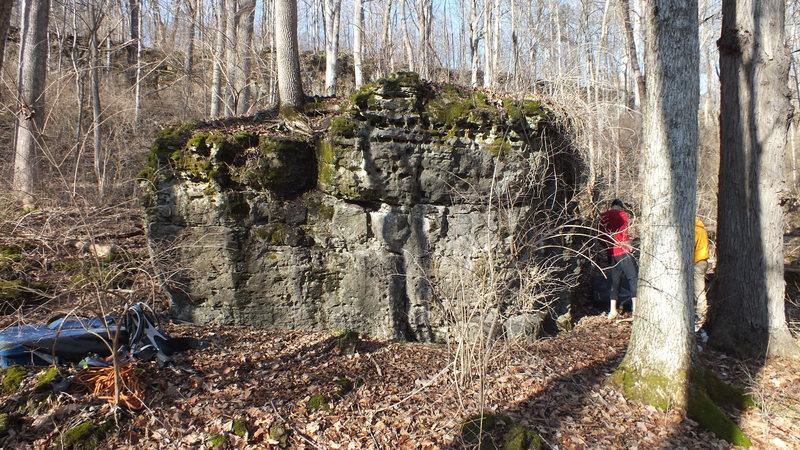 Rock Climbing Photo: Trail side of Hug Me boulder