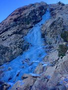 Rock Climbing Photo: Fitzy Fitzpatrick rapping from the top of pitch on...