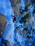 Rock Climbing Photo: Fitz Fitzpatrick at the top of P1 !!!
