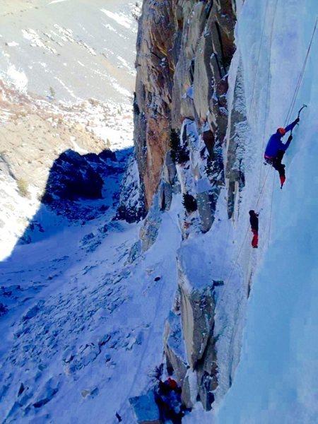 Climbers on Chouinard Falls!!!