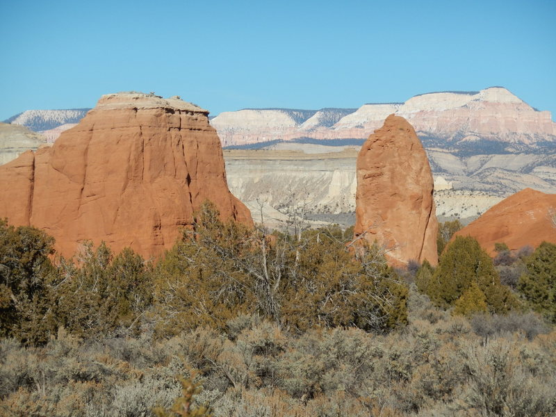 Rock Climbing Photo: Firing Pin Tower and Gun-Sight Butte