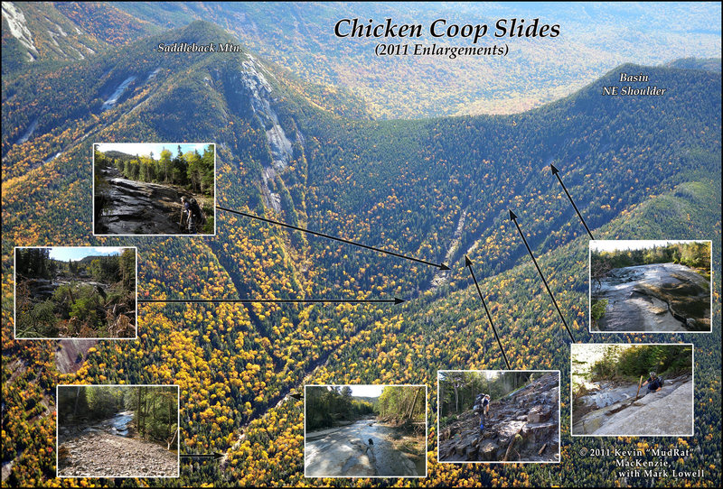 Chicken Coop Slides on Basin's ridge. The old exposure on Saddleback lies to the left-hand side of the photo.