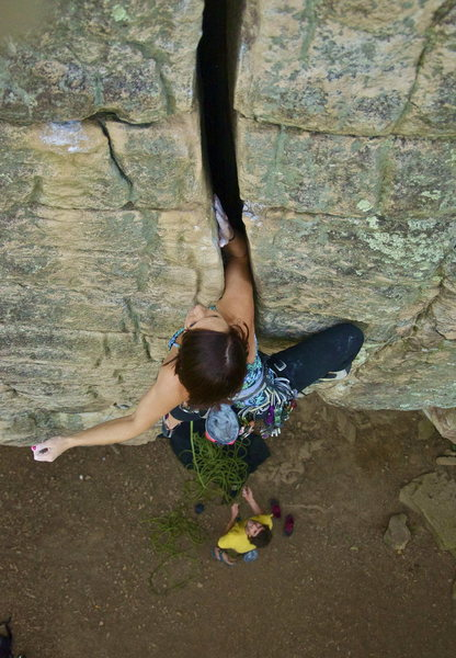 Rock Climbing Photo: Rusty's Crack, Chattanooga, TN