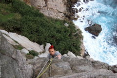 Rock Climbing Photo: Danger at the top of the 2nd pitch
