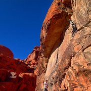 Rock Climbing Photo: Getting to the steeper climbing