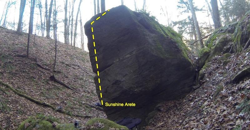 Rock Climbing Photo: Sunshine Arete
