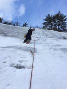 Rock Climbing Photo: Leading P2 of L'Anniversaire