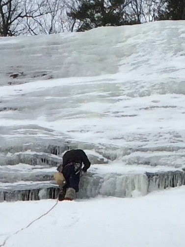 "Rock Climbing Photo: ""Screwing"" at the 1st Overlap on Littora..."