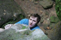 Rock Climbing Photo: James on Versicolor