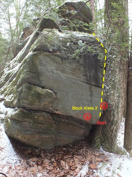 Rock Climbing Photo: Block Arete 2