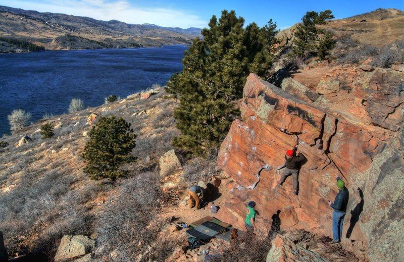 Rock Climbing Photo: Problem solving on Ship's Prow.  Photo by Brendan ...