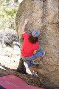 Rock Climbing Photo: Setting up for the big move to the lip.  Photo Pau...
