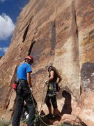 Rock Climbing Photo: racking up for generic crack, donnelly canyon, ind...