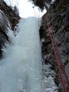 Rock Climbing Photo: Final crux section (1/18/2015)