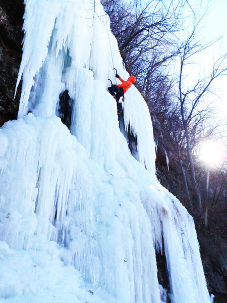 Rock Climbing Photo: Ben Smith on the Main Flow Wyalusing