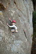 Rock Climbing Photo: Five-year-old Wesley Fienup is loving life midway ...